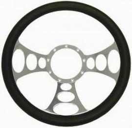 Chrome Aluminum Orbitor Style Steering Wheel