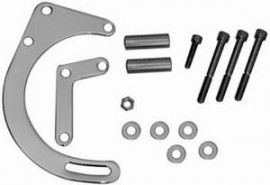 Chrome Steel Low Mount Alternator Bracket