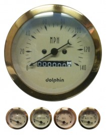 5 Piece Gold mechanical gauge set