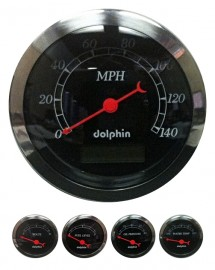 5 Piece black programmable gauge set