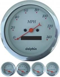 5 Piece grey programmable gauge set
