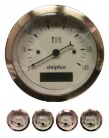 5 Piece gold programmable gauge set