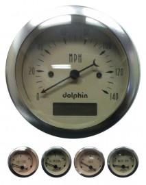 5 Piece beige programmable gauge set