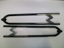 Rear 27 inch hairpin radius rods, Plain Steel