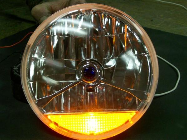 7 Quot Tri Bar Headlights With Built In Turn Signal Spirit Cars