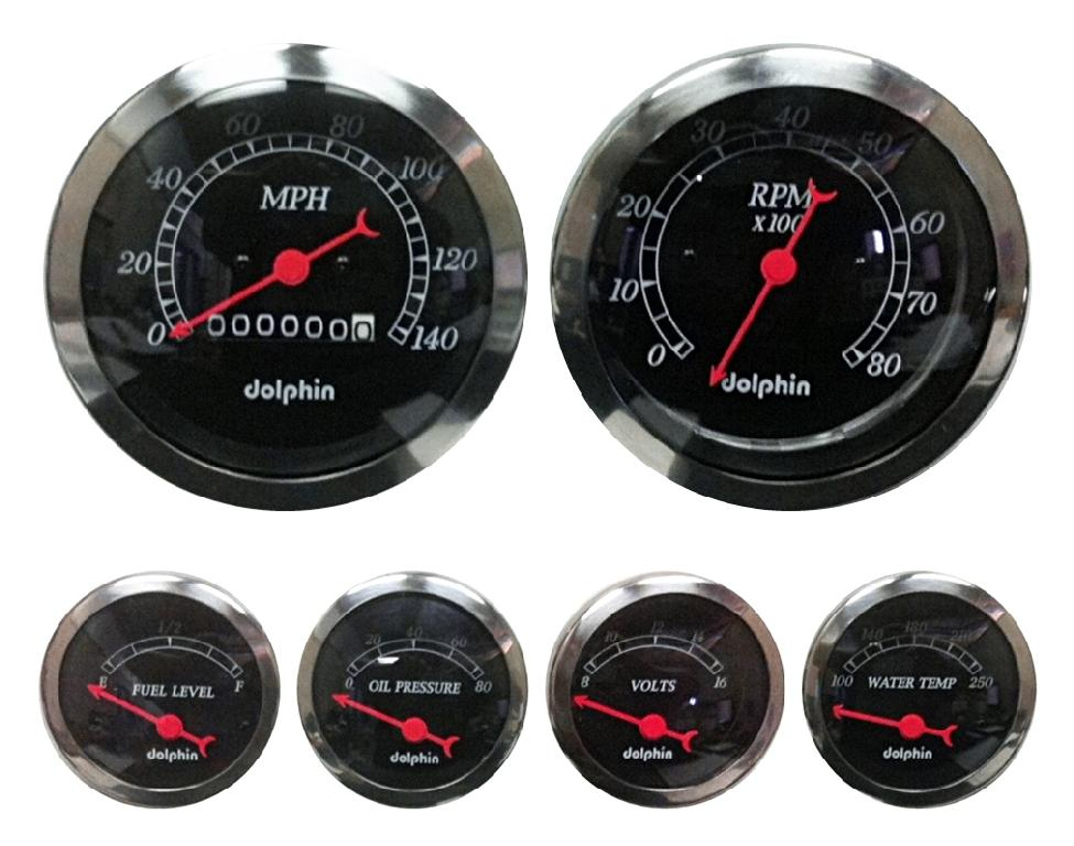 Car Gauges Set : Piece black mechanical gauge set spirit cars